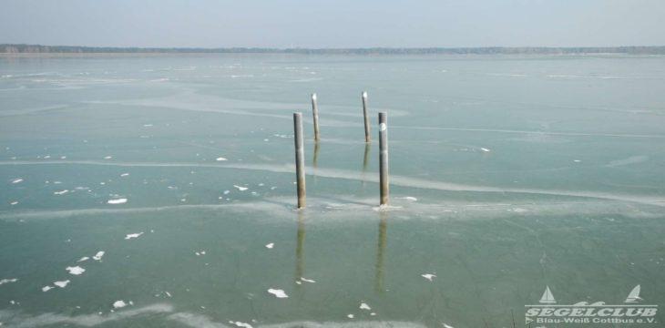 LR berichtet über Eiseskälte auch bei uns am See